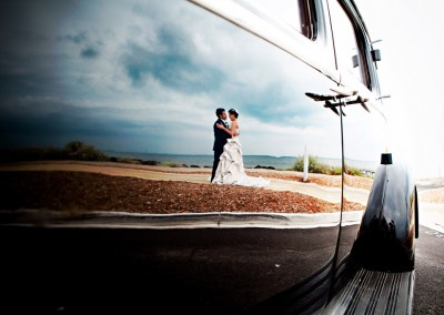 Wedding Photography Wedding Car Reflection